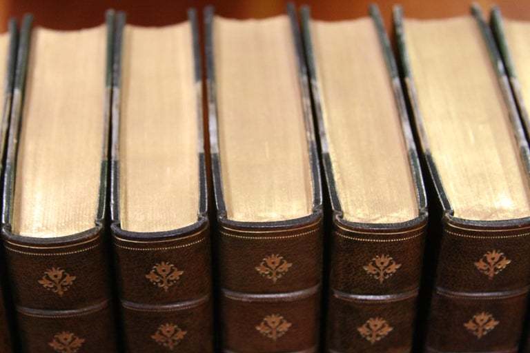 Collections of Leather bound Antiques Books. The Writings of Ralph W. Emerson In Good Condition In New York, NY