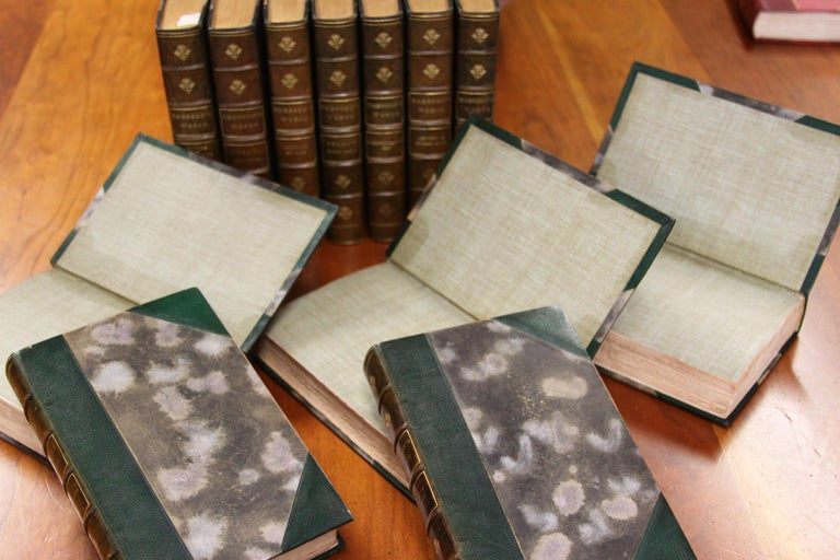 Collections of Leather bound Antiques Books. The Writings of Ralph W. Emerson 2