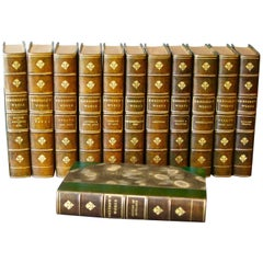Collections of Leather bound Antiques Books. The Writings of Ralph W. Emerson
