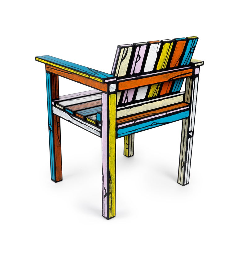 Modern Wrong Woods Numbered Edition Studio Chair by Sebastian Wrong and Richard Woods For Sale
