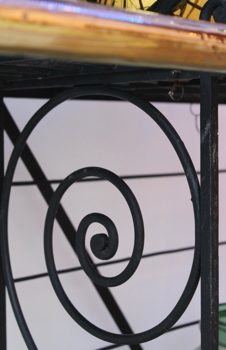 Wrought Iron and Brass Baker's Rack, France, circa 1880 In Good Condition For Sale In London, GB