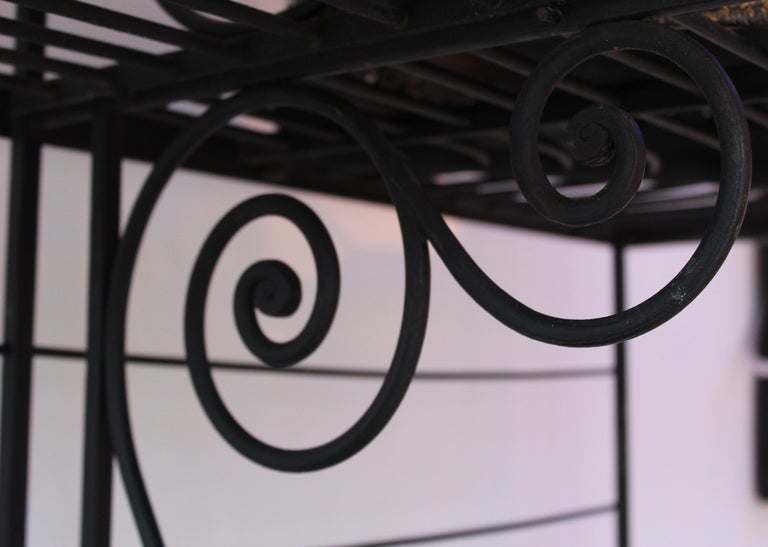 Wrought Iron and Brass Baker's Rack, France, circa 1880 For Sale 1