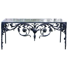Black Iron Decorative Console Table
