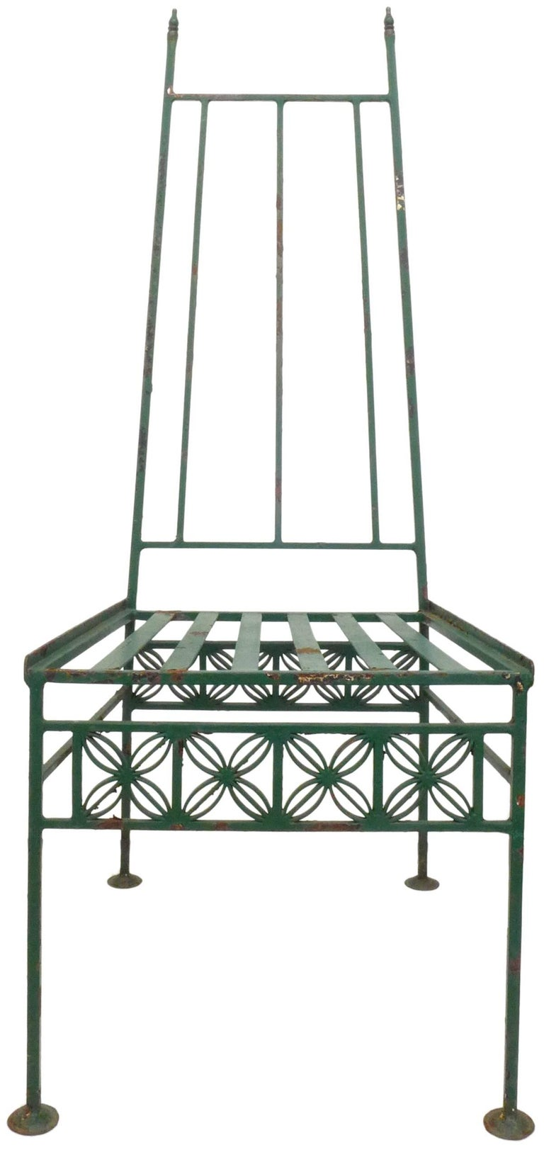 Wrought Iron and Glass Dining Set In Good Condition For Sale In Los Angeles, CA