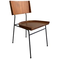 Wrought Iron and Maple Chair by Arthur Umanoff