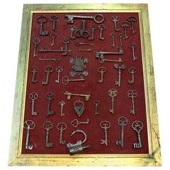 Wrought Iron Antique Keys, Locks and Ironwork, 15th-19th Century