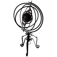 Wrought Iron Armillary Sphere Sculpture