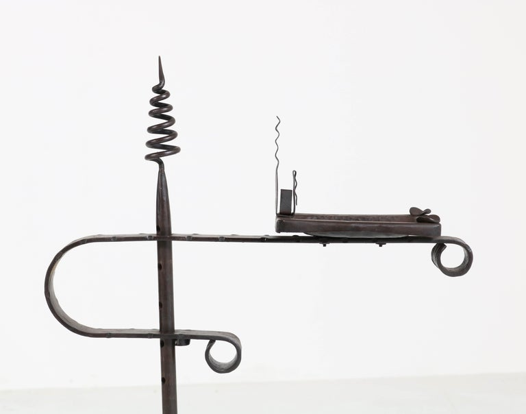 Wrought Iron Art Deco Amsterdam School Ashtray Stand by J. Boerman, 1920s For Sale 3
