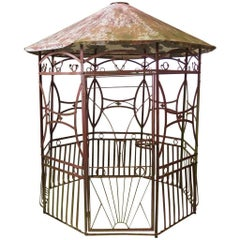 Wrought Iron Art Deco Pergola, France, 1920s