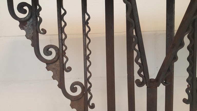 Forged Wrought Iron Art Deco Stand or Pedestal For Sale