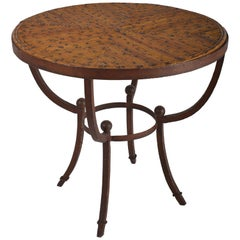 Wrought Iron Bamboo Side Table, France, 1940