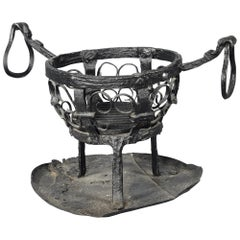 Wrought Iron Brazier, Spain, 13th-14th Centuries and Later, with Restoration