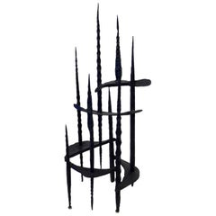 Wrought Iron Brutalist Sculpture by David Palombo