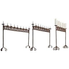 Wrought Iron Candle Spikes