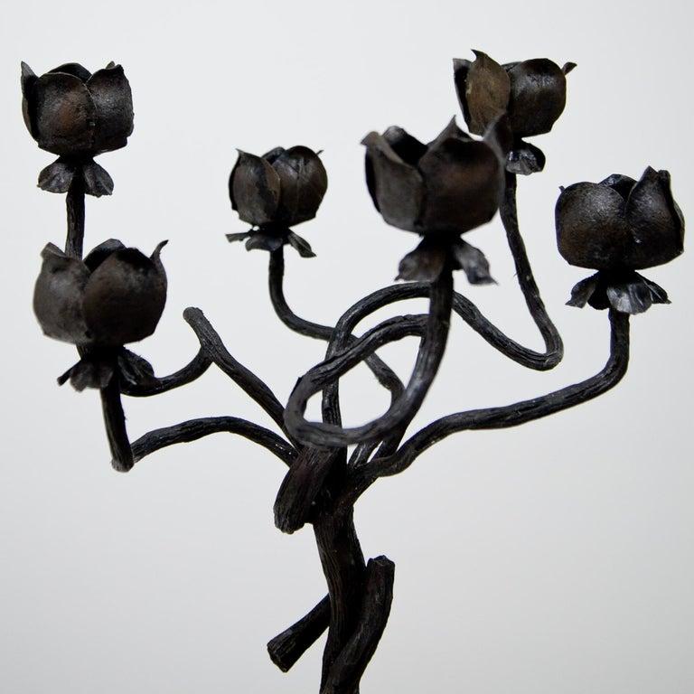 Schmiedeeisen Kerzenhalter Zugeschrieben Alessandro Mazzucotelli, Italien 2