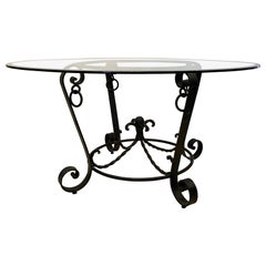 Wrought Iron Center Table Style of Poillerat