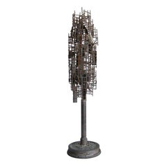 American Brutalist Iron Sculpture