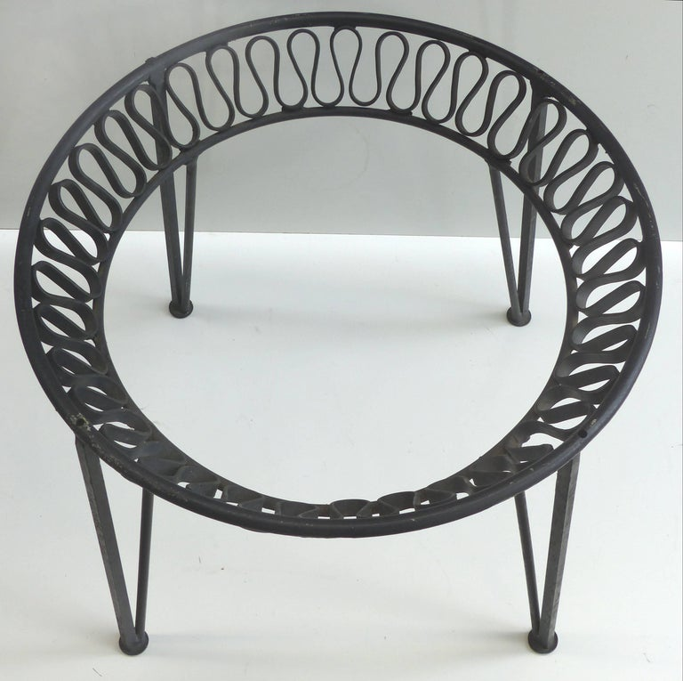 Wrought Iron Cocktail Table Base By Maurizio Tempestini