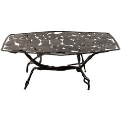 Wrought Iron Coffee Table by Nicolas Thevenin