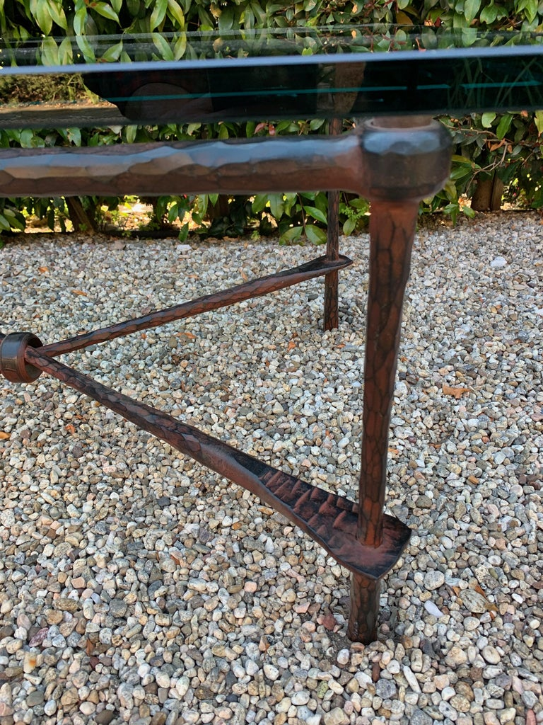 Wrought Iron Coffee Table in the Manner of Giacometti For Sale 5