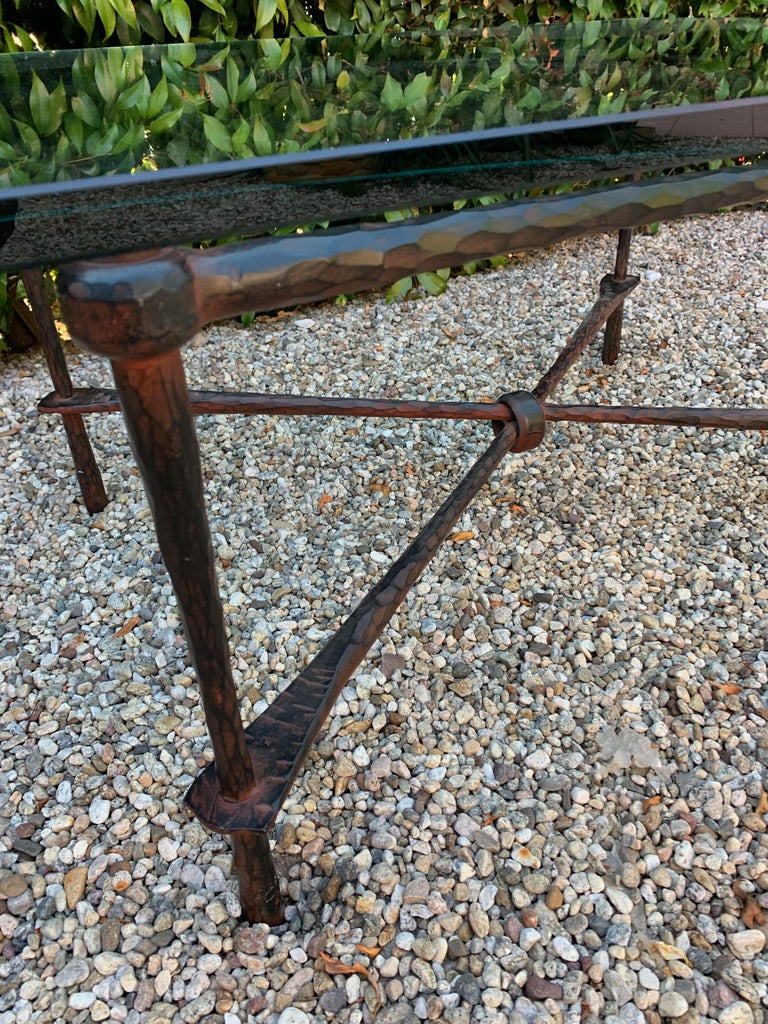 Wrought Iron Coffee Table in the Manner of Giacometti For Sale 7