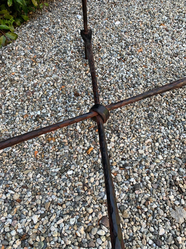 20th Century Wrought Iron Coffee Table in the Manner of Giacometti For Sale