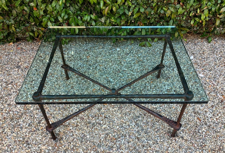 Wrought Iron Coffee Table in the Manner of Giacometti For Sale 2