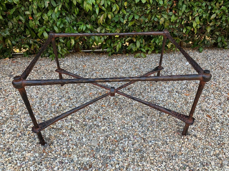 Wrought Iron Coffee Table in the Manner of Giacometti For Sale 1