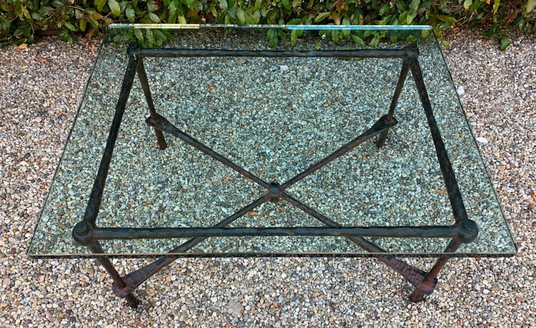Wrought Iron Coffee Table in the Manner of Giacometti For Sale 3