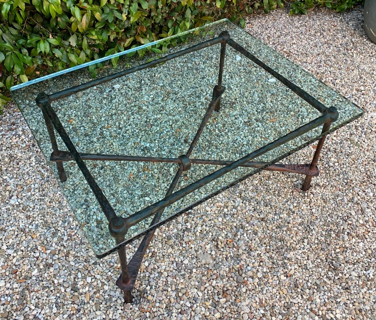 Wrought Iron Coffee Table in the Manner of Giacometti For Sale 4