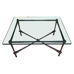 Wrought Iron Coffee Table in the Manner of Giacometti