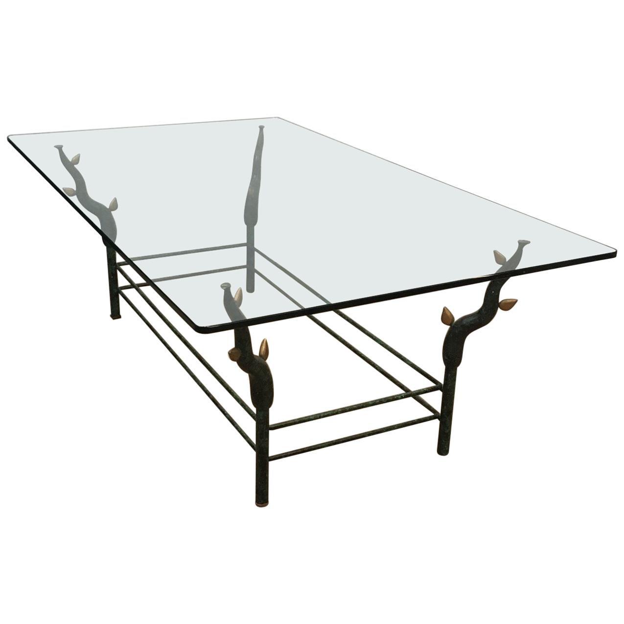 Wrought Iron Coffee Table in the Style of Garouste et Bonetti