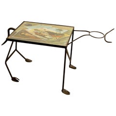 "Wrought Iron ""Corrida"" Side Table"