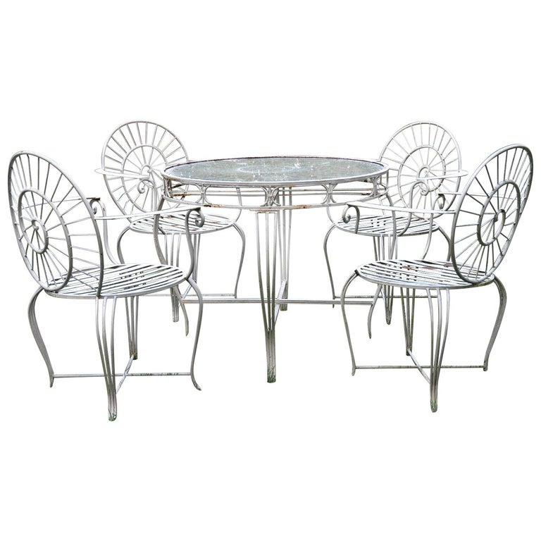 Wrought Iron Dining Set For Sale