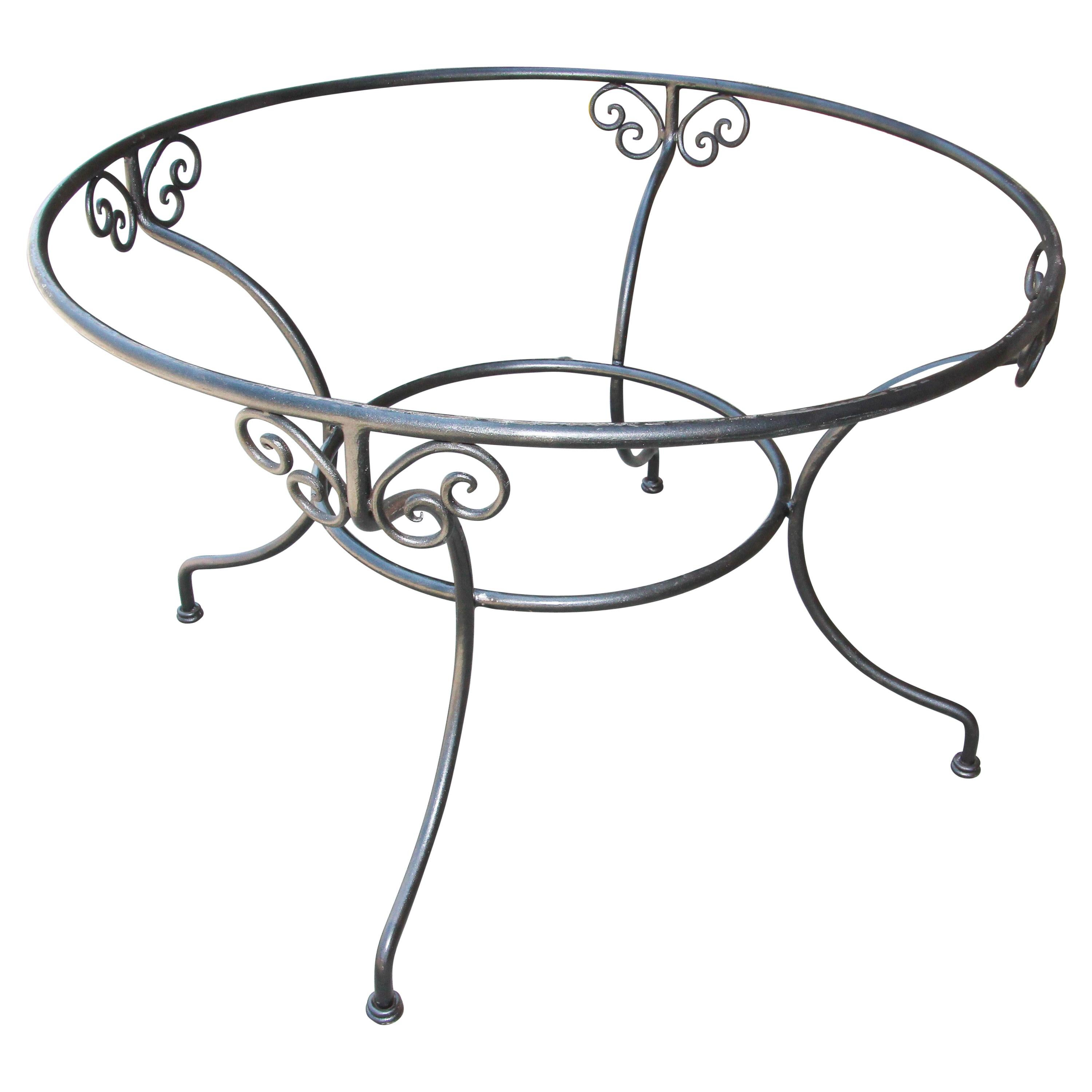 Wrought Iron Dining Table Base Indoor or Outdoor