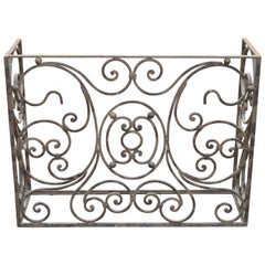 Wrought Iron Fancy Scrollwork French Art Nouveau Style Console Table Base