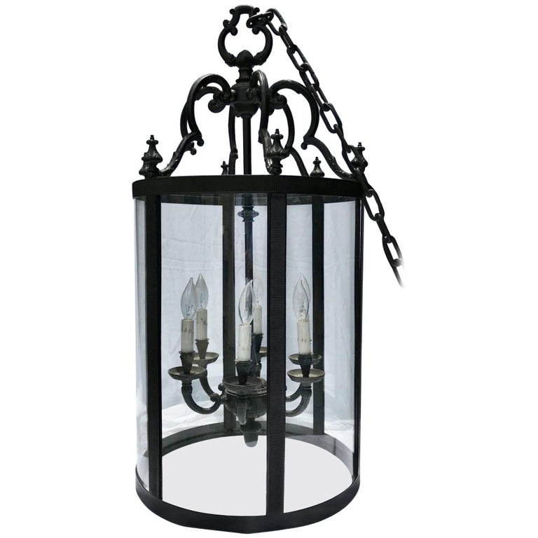 Foyer Chandelier Wrought Iron : Wrought iron foyer pendant chandelier for sale at stdibs