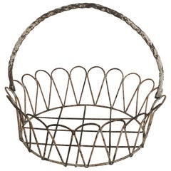 Wrought Iron Garden Basket or Jardinière