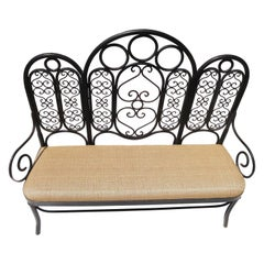 Wrought Iron Garden Bench, Early 20th Century