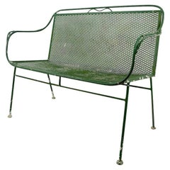 Wrought Iron Garden Patio Loveseat by Salterini