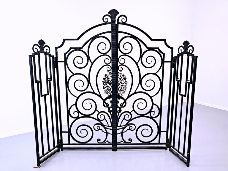 Wrought iron gate, French.