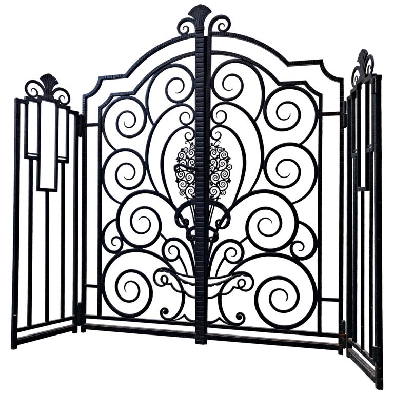 Wrought Iron Gate, French For Sale