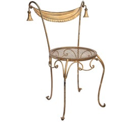 Wrought Iron Gold Parlor Chair