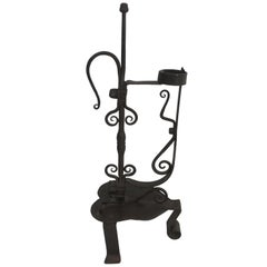 Wrought Iron Gothic Style Candleholder, French, circa 1920