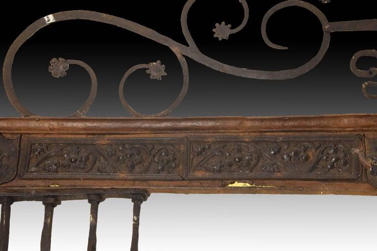 Renaissance Wrought Iron Grille, Spain, 16th Century For Sale