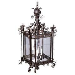Wrought Iron Hall Lantern