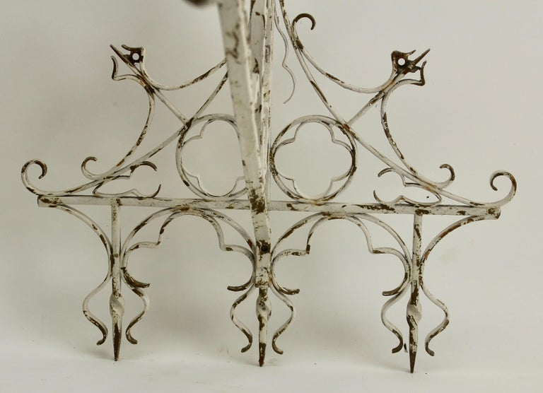 Wrought Iron Handcrafted and Smithed Wall-Bracket for Lantern or Sign For Sale 3