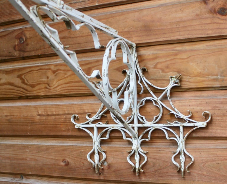 Wrought Iron Handcrafted and Smithed Wall-Bracket for Lantern or Sign For Sale 6
