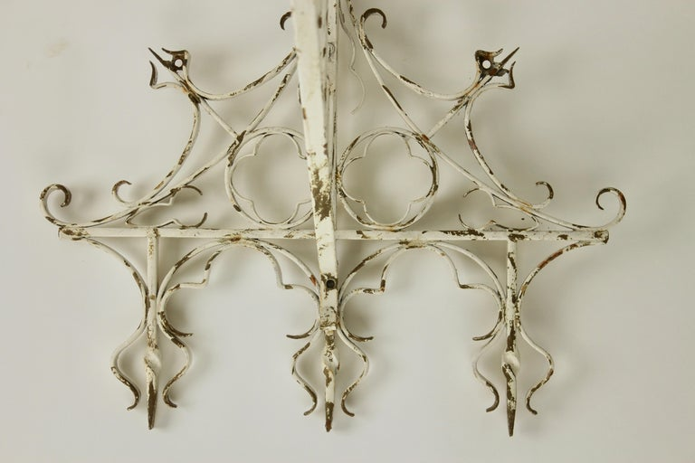 Wrought Iron Handcrafted and Smithed Wall-Bracket for Lantern or Sign In Good Condition For Sale In Verviers, BE