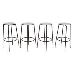 Wrought Iron Industrial Foot Stools Designed by Foraform, Norway